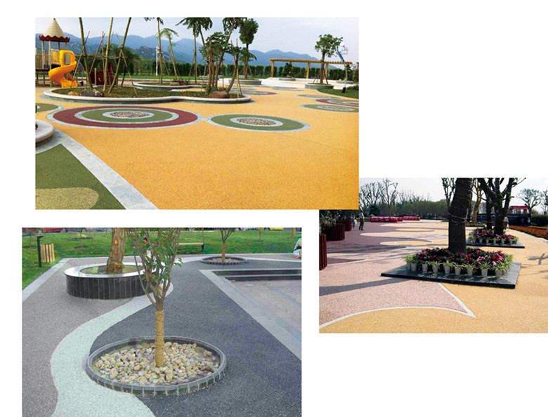 Resin bound water permeable pavement