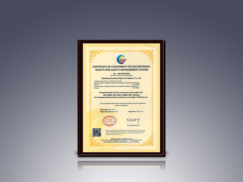 OHSAS18001:2007 occupational health and safety management system certification
