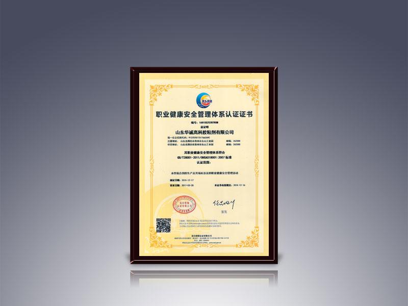 OHSAS18001:2007职业健康安全管理体系认证